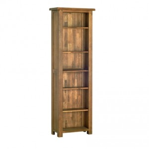 Rustic Oak 6' Bookcase (Narrow)