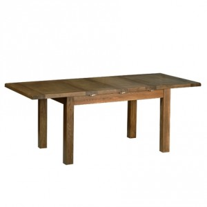 Rustic Oak 3x4'4 Extending Dining Table