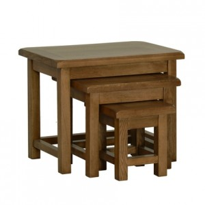 Rustic Oak Small Nest of Table