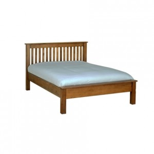 Rustic Oak 4'6 Bed LFE